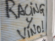 "Mural - Graffiti - Pintadas - Mural - Graffiti - ""Racing y vino!"" - La Guardia Imperial - Racing Club"